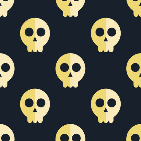glum: seamless pattern skulls background