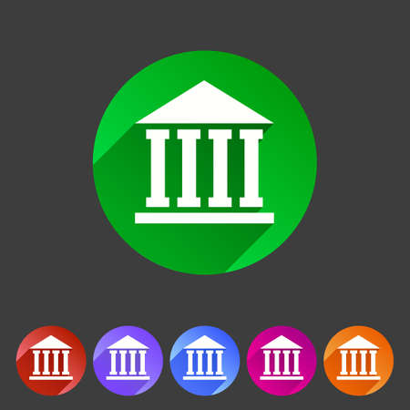 bank: school, university, academy flat icon sign set Illustration