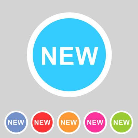 New Abzeichen Flach Symbol Zeichen gesetzt Symbol