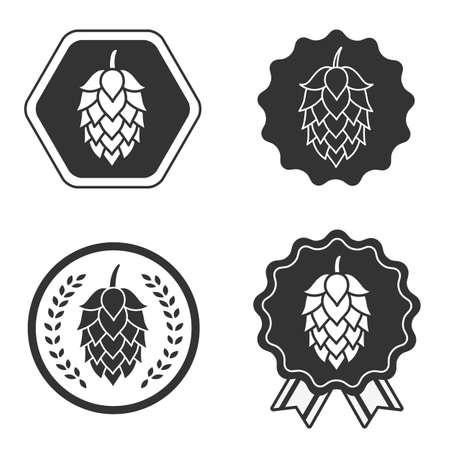 Hop craft beer sign symbol label Ilustração