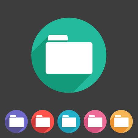 attachment: Folder attachment badge flat icon sign set symbol Illustration
