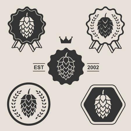 Hop Handwerk Bier symbol label-Element
