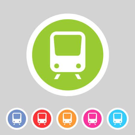 high speed railway: Train travel railway flat icon badge