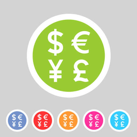 converter: Currency exchange sign icon converter symbol money label