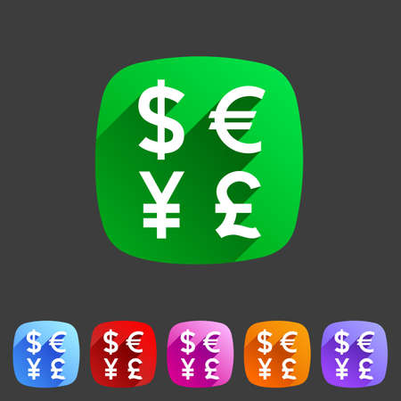 currency converter: Currency exchange sign icon converter symbol money label