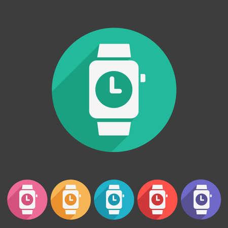 cartoon clock: Watch icon sign symbol logo label set