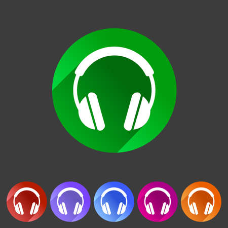 head phones: headphone dj icon sign symbol logo label