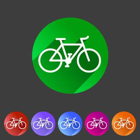 bicycle chain: bicycle icon sign symbol logo label set Illustration