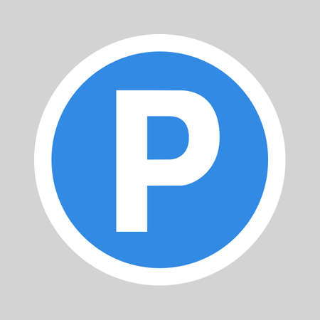 Car parking flat icon sign symbol   イラスト・ベクター素材