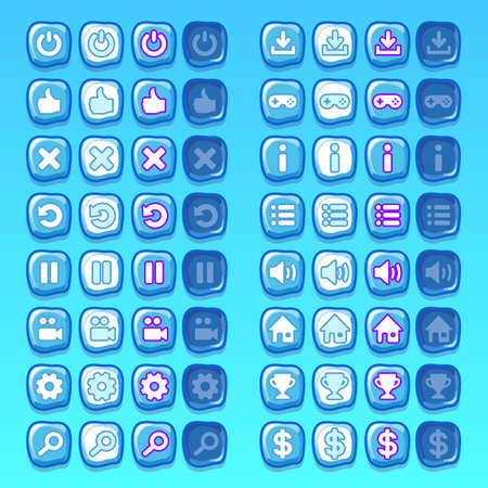 ui: ice game icons buttons icons, interface, ui
