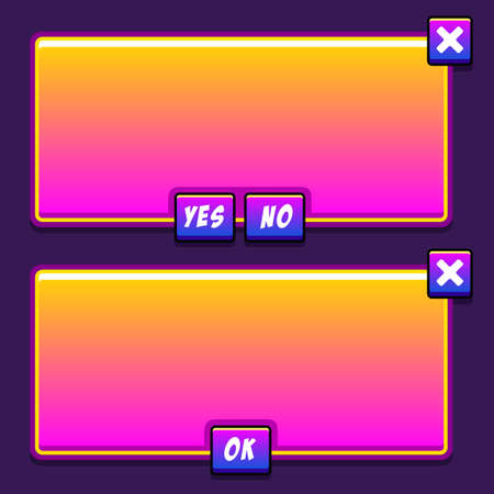 panels: Space game interface panels ui buttons set