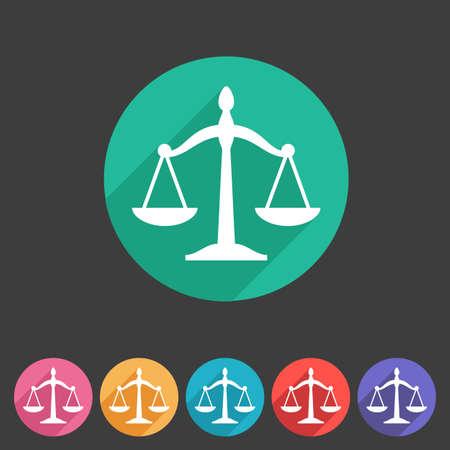 balance icon: Law balance icon flat web sign symbol logo label set Illustration