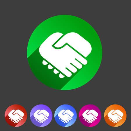 logo handshake: Handshake icon flat web sign symbol logo label set Illustration
