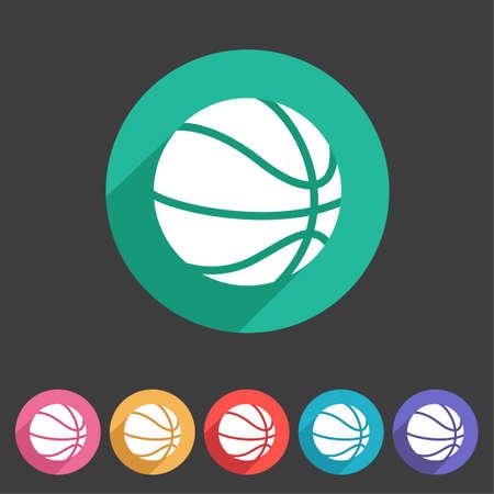 sign symbol: Basketball icon flat web sign symbol  label