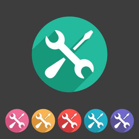 Repair icon flat web sign symbol logo label