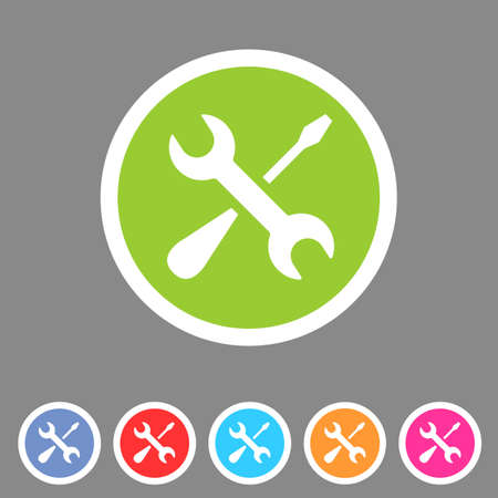 rework: Repair icon flat web sign symbol logo label