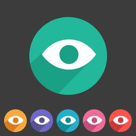 visitor: Eye, watch, visitor icon flat web sign symbol