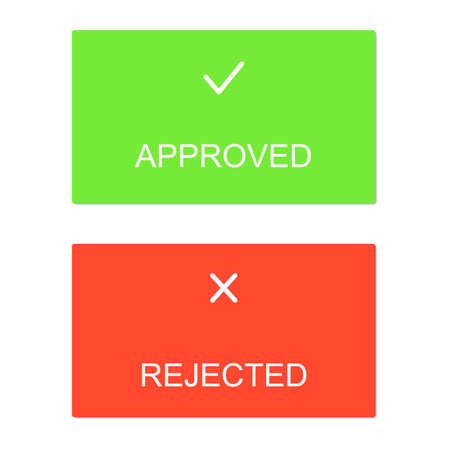 dialog box: Approved rejected interface dialog box icons Illustration