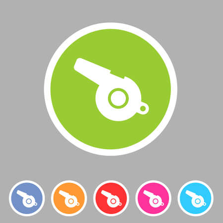 blower: whistle blower sport football app icon flat web sign symbol Illustration