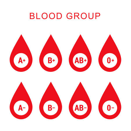 compatibility: Blood group type icon flat web sign symbol logo label