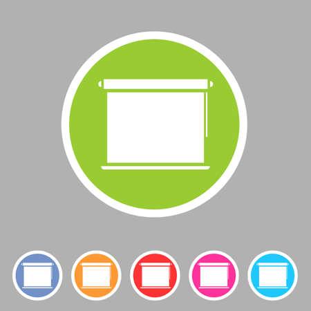 Window, plisse, jalousie, blinds, rolls vertical horizontal symbols icons set