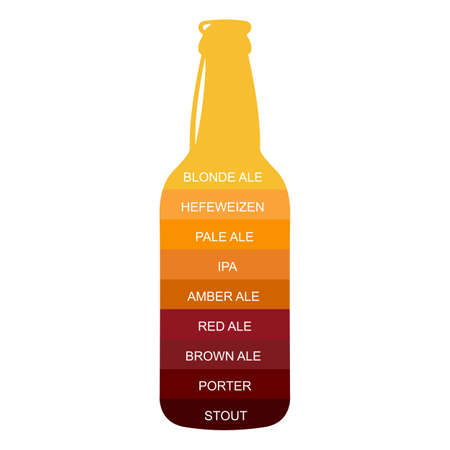Beer bottle craft vintage type infographic chart