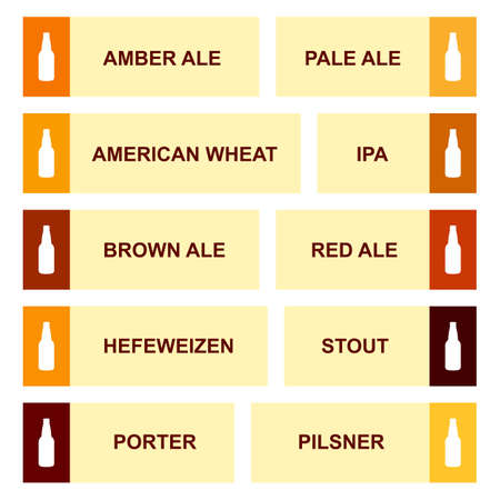 Bierflasche Handwerk Vintage-Typ Infografik Chart Set