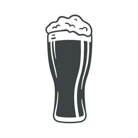Beer glass icon iweb sign symbol logo label set Lizenzfreie Bilder