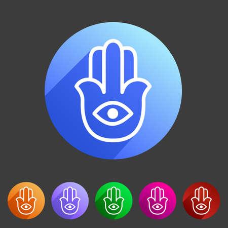 sanskrit: Hamsa hamesh icon flat web sign symbol logo label