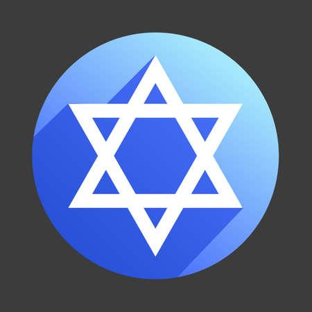 David star icon flat web sign symbol logo label Illustration