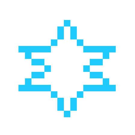 magen david star israel symbol symbol sign pixel