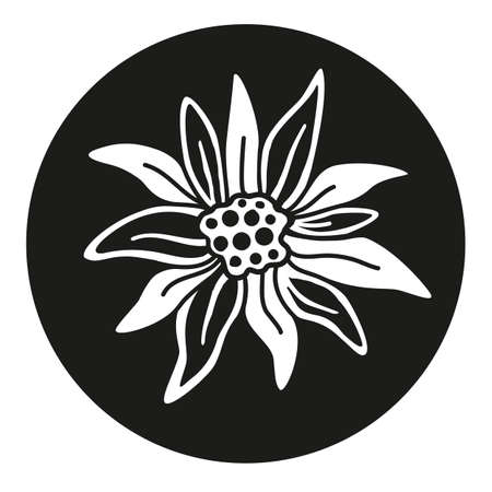 Edelweiss flower icon vector alpine icon flat web sign symbol logo label Ilustração