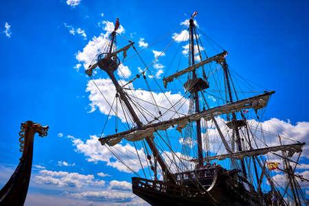 Spanish galleon ship Standard-Bild