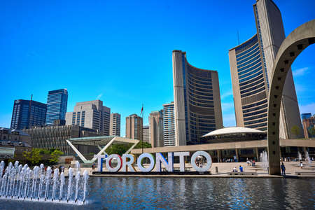 Toronto City Hall Nathan Phillips Square Ontario Canada