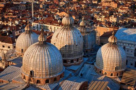 Saint Mark's Basilica View from Campanile di San Marco Venice Italy Stock Photo