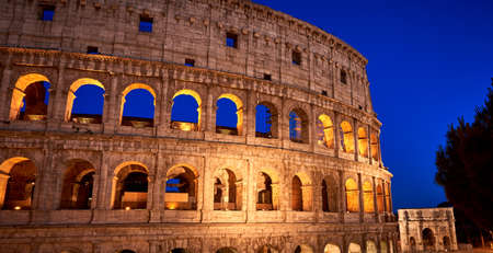 Colosseum golden hour Rome Italy