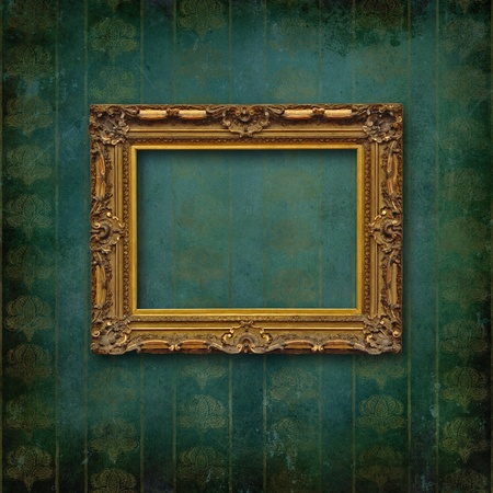 Vintage frame on faded grunge stylized texture photo