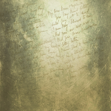 Grunge green background with handwriting Stock Photo