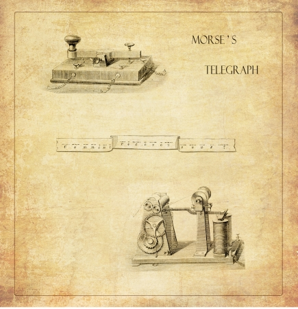 morse code: Morse s  telegraph background Stock Photo