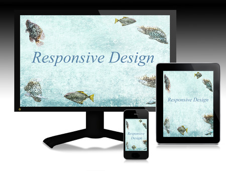 Scalable software for responsive websites   Easy communication among different digital devices Stock Photo - 26800094