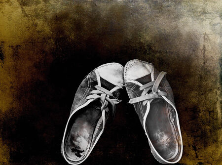 workout gym shoes on a grunge dirty texture photo