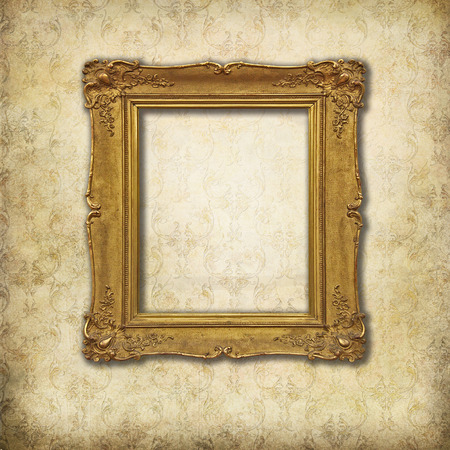 baroque empty frame on a grunge Victorian texture photo