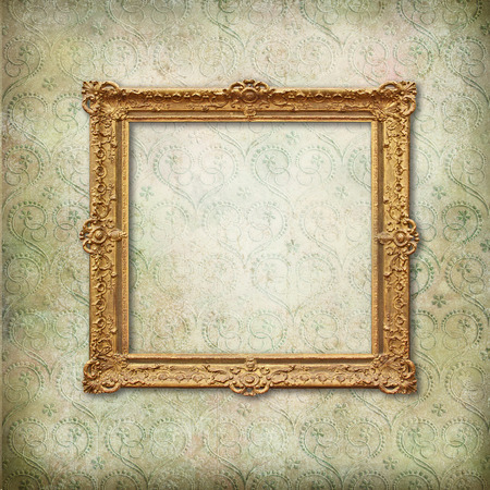 wallpaper image: Vintage frame on faded grunge stylized texture