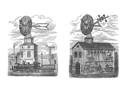 establishment: Wind mill energy for a farm and an industrial establishment