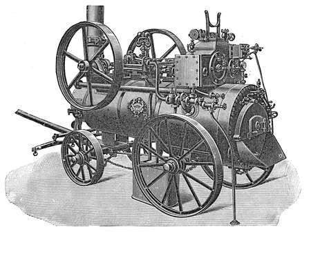 Vintage steam powered locomobile