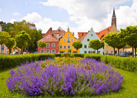 Springtime in Landshut, Bavarian town near Munich Stock Photo