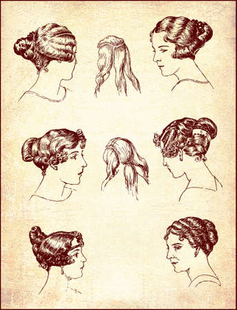 old fashioned: Hair dressing and old fashioned glamour