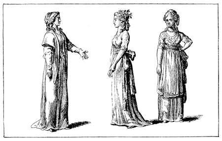 black ancestry: Reform fashion from Women Almanach, 1786