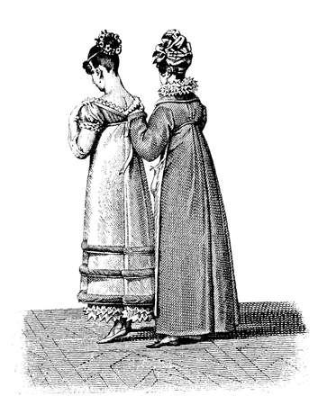 black ancestry: Vintage ladies fashion helping to dress