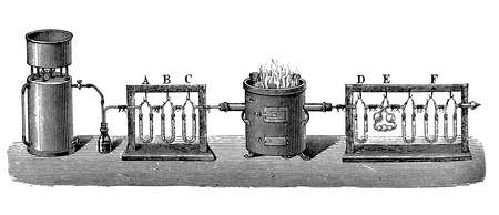 seventeenth: Carbon dioxide was the first gas to be described as a discrete substance. In the seventeenth century the Flemish chemist Jan Baptist van Helmont observed that when he burned charcoal in a closed vessel, the mass of the resulting ash was much less than tha